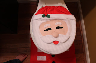 Christmas Santa Toilet Seat Cover 2