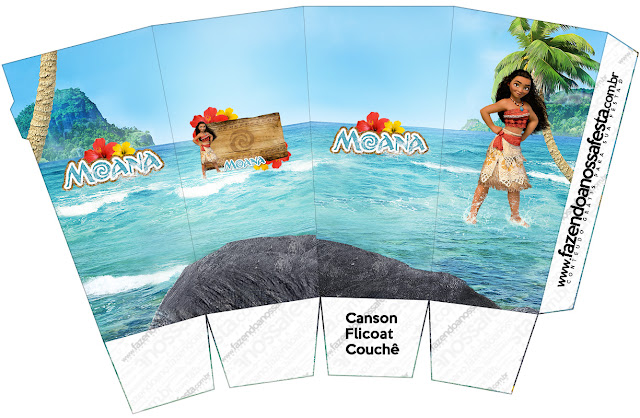 Moana Free Printable Pop Corn Box.