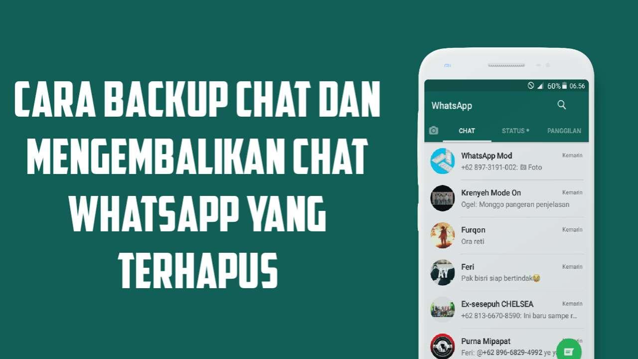 backup dan mengembalikan chat WhatsApp