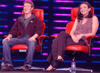 Sheryl Sandberg and Mark Zuckerberg.