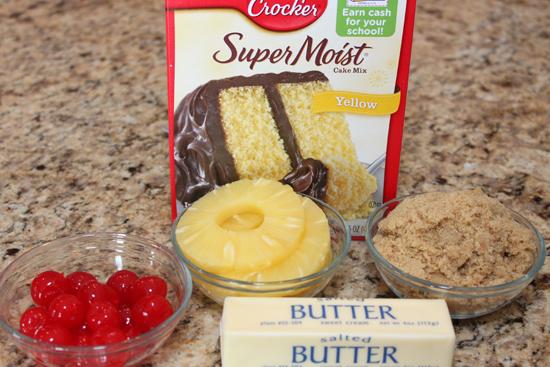 Warm Chocolate Pineapple Upside Down Cake Recipe