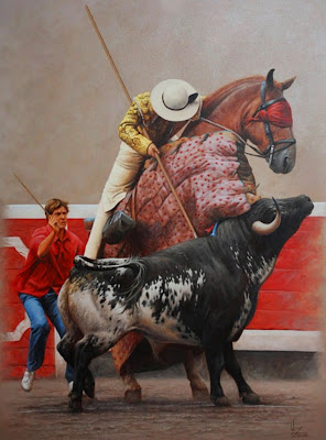 cuadros-al-oleo-de-toros-y-caballos