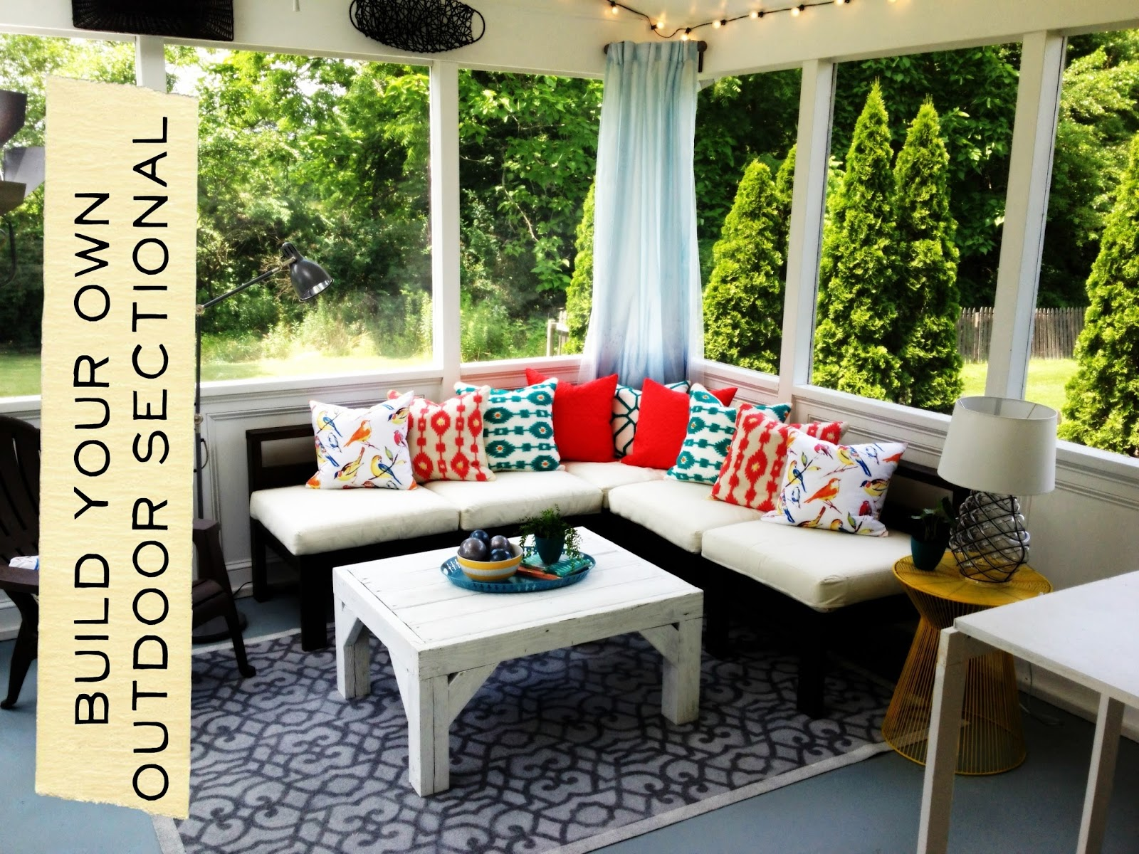 How to Build an Outdoor Sectional Knock It f East Coast
