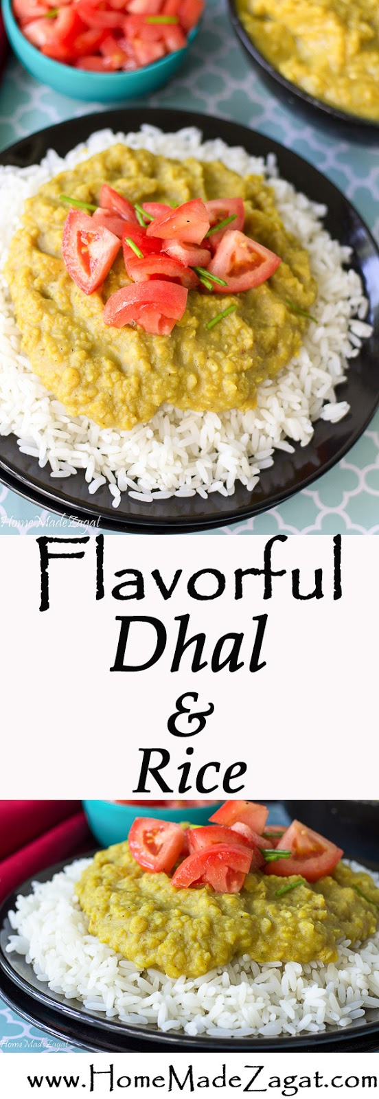 Recipe for Dhal and Rice