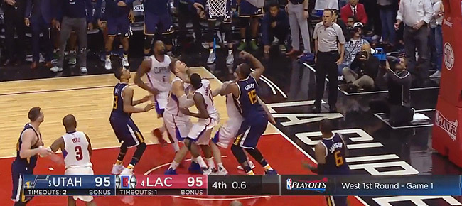 Best CLUTCH Moments from the Jazz and Clippers' Thrilling Game 1 (VIDEO)