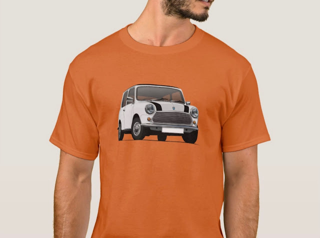 White Austin Mini - Morris Mini - T-shirt