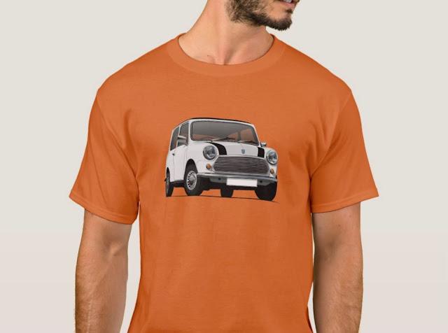 White Austin Mini - Morris Mini - T-shirt