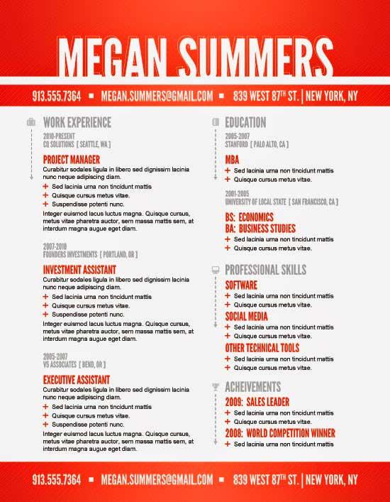 Free Creative Resume Template 03