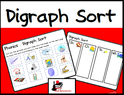 Free digraph picture sort from Raki's Rad Resources