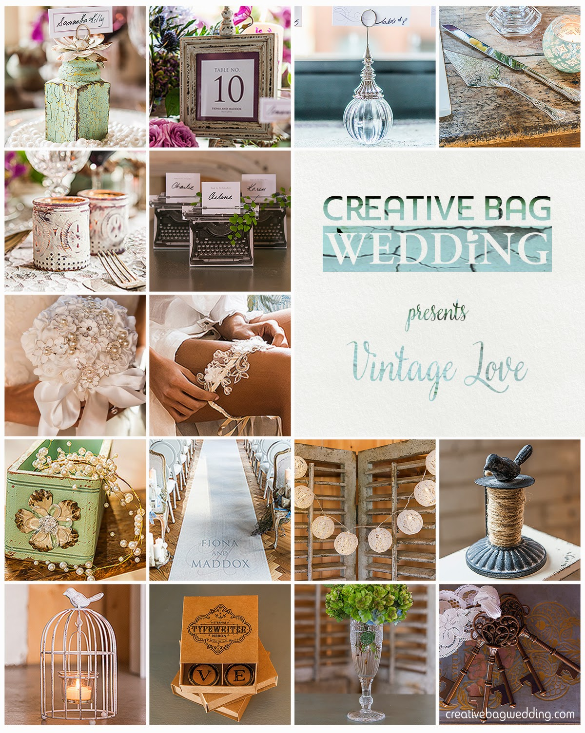 vintage theme mood board | Creative Bag Wedding