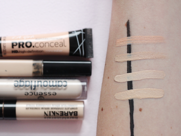 essence full coverage concealer Swatch