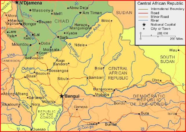 Gambar Peta Afrika Tengah