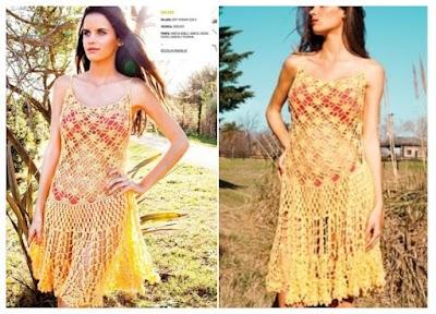 Vestido para playa calado crochet