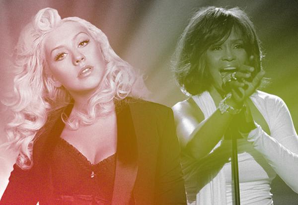 Christina Aguilera emociona no dueto com holograma de Whitney Houston no The Voice USA!