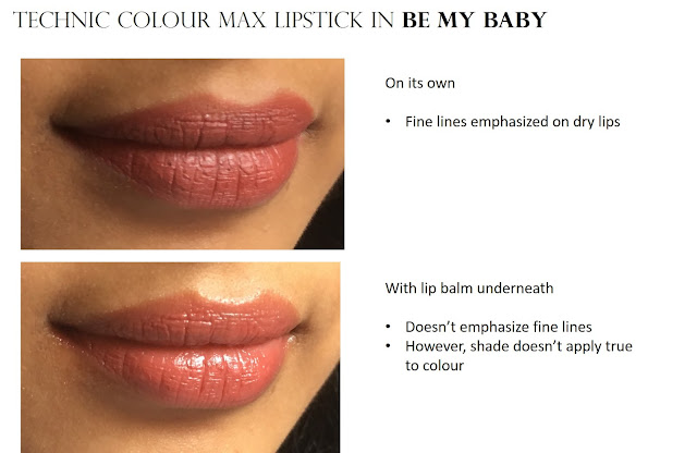 Technic Colour Max Lipstick Be My Baby lip swatch