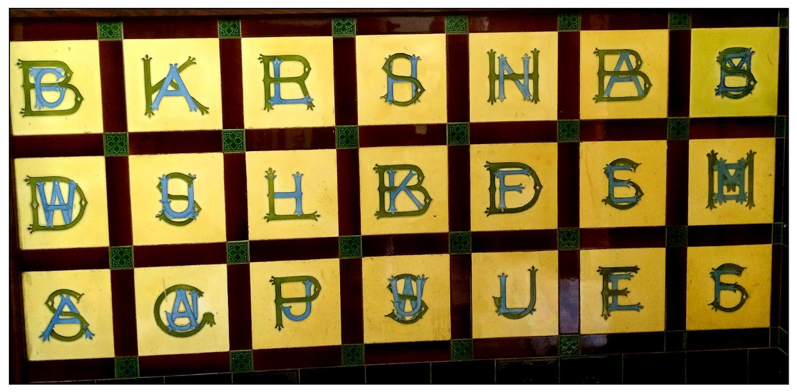 News from nowhere ceramic scrabble at the wes some kind of uplifting message with the random letters i then thought they might be some kind of decorative alphabet set a victorian ceramic primer dailygadgetfo Image collections