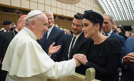 Katy Perry & Orlando Bloom Meet Pope Francis - Image ~ Naijabang