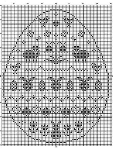 Wielkanocny filet na szydełku DIY - 30 SCHEMATÓW i WZORÓW