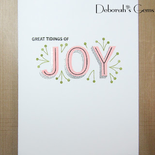 Great Tidings of Joy sq - photo by Deborah Frings - Deborah's Gems