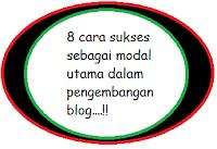 8 Modal utama untuk sukses dalam dunia blogging