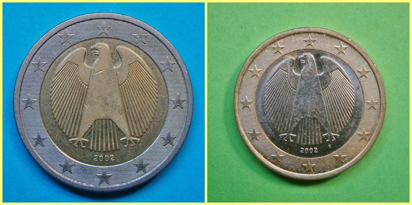 2 y 1 euro alemania