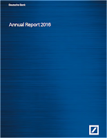 Front page of the DB annual report 2016