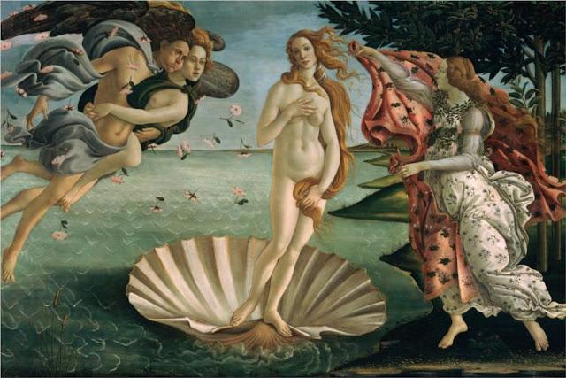 Nacimiento de Venus 1485 arte pintura