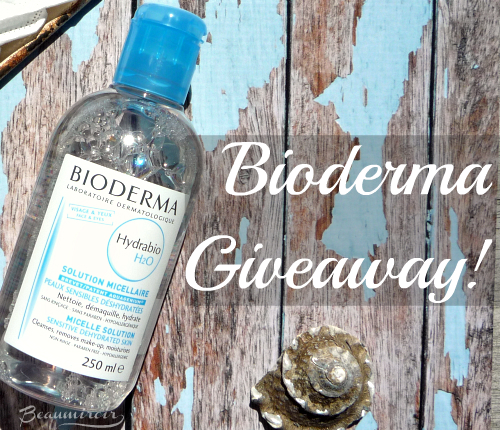 Giveaway: enter on beaumiroir.com to win Hydrabio H2O micellar water by Bioderma!