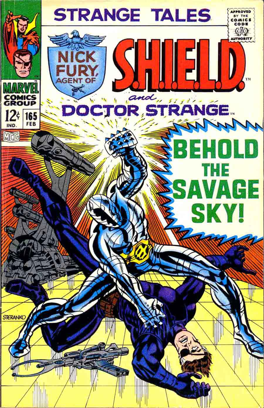 Strange Tales v1 #165 nick fury shield comic book cover art by Jim Steranko