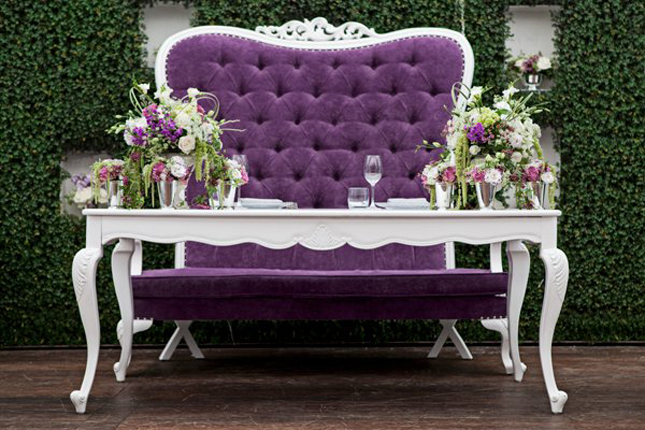 purple cuddle chair executive arm covers wedding: sweetheart tables on pinterest | table, grooms table and brides