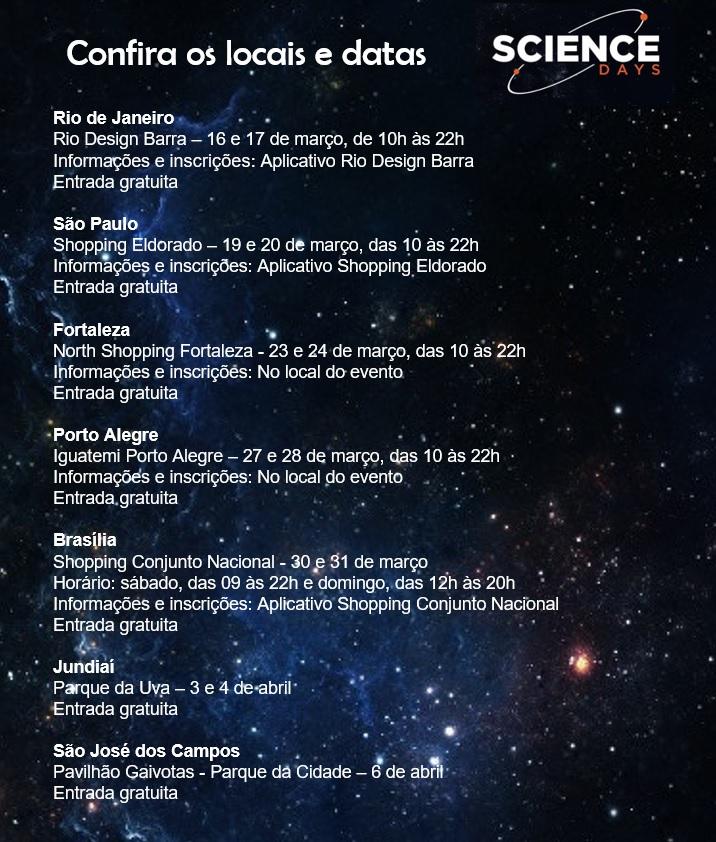 becf42ab3 Science Days Brazil Comemora 50 Anos da Chegada do Homem à Lua