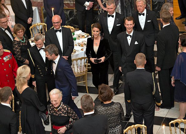 Queen Margrethe, Prince Frederik, Prince Joachim and Princess Marie. Jimmy Choo sandals. Princess Mary