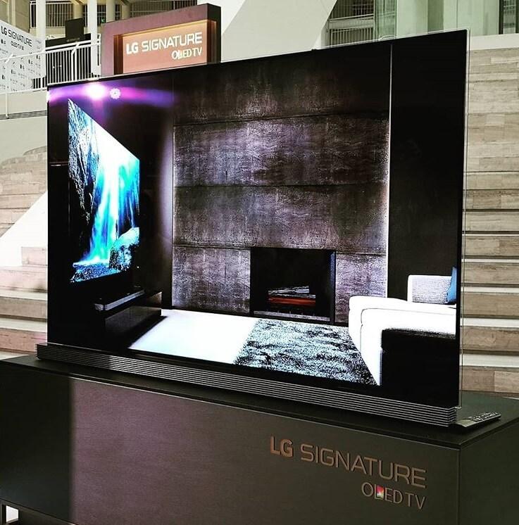 77-inch Signature OLED W8 Wallpaper TV