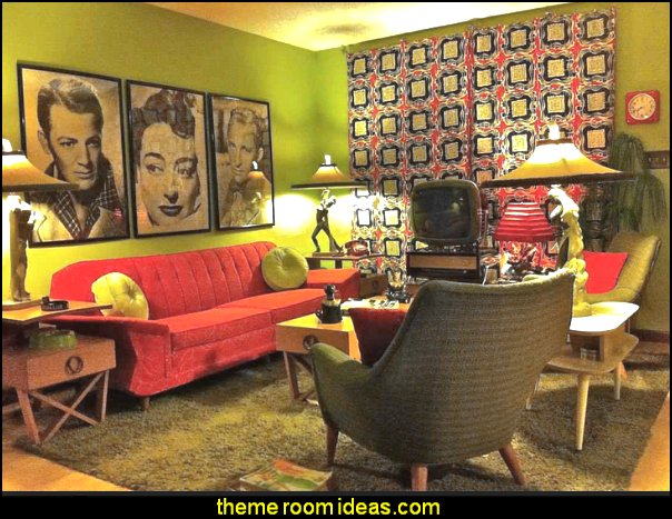 50s, 60s, 70s - Mid century Interiors - retro decor