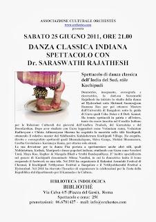 danza indiana kuchipudi roma seminario spettacolo