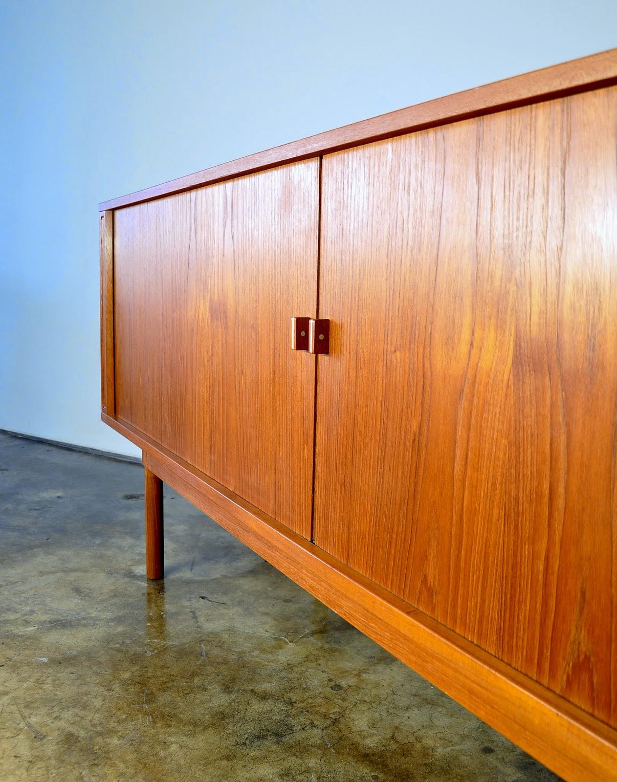 SELECT MODERN: Danish Modern Jens Quistgaard Teak Credenza & Hutch, Buffet, Sideboard, Bar or ...