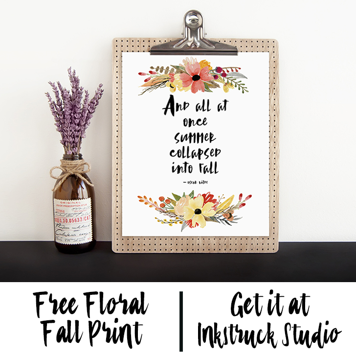 Fox & Hazel - Free Autumn Art Print