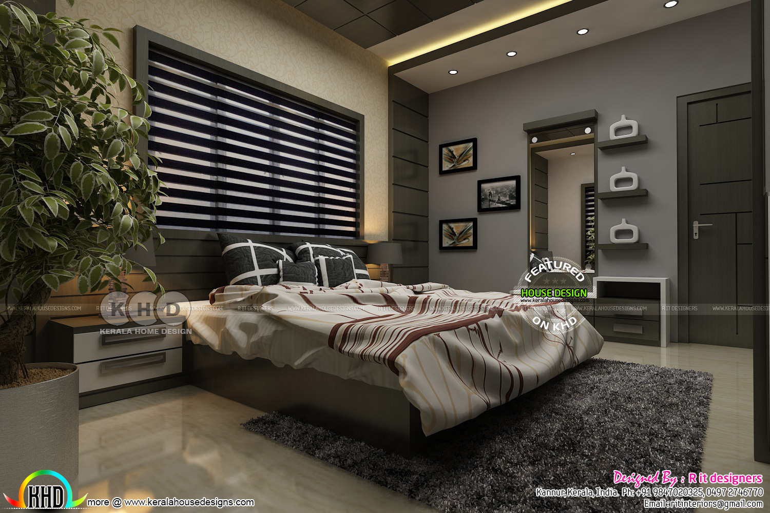 Modern Master Bedroom Interior Kerala Home Design And Floor Plans