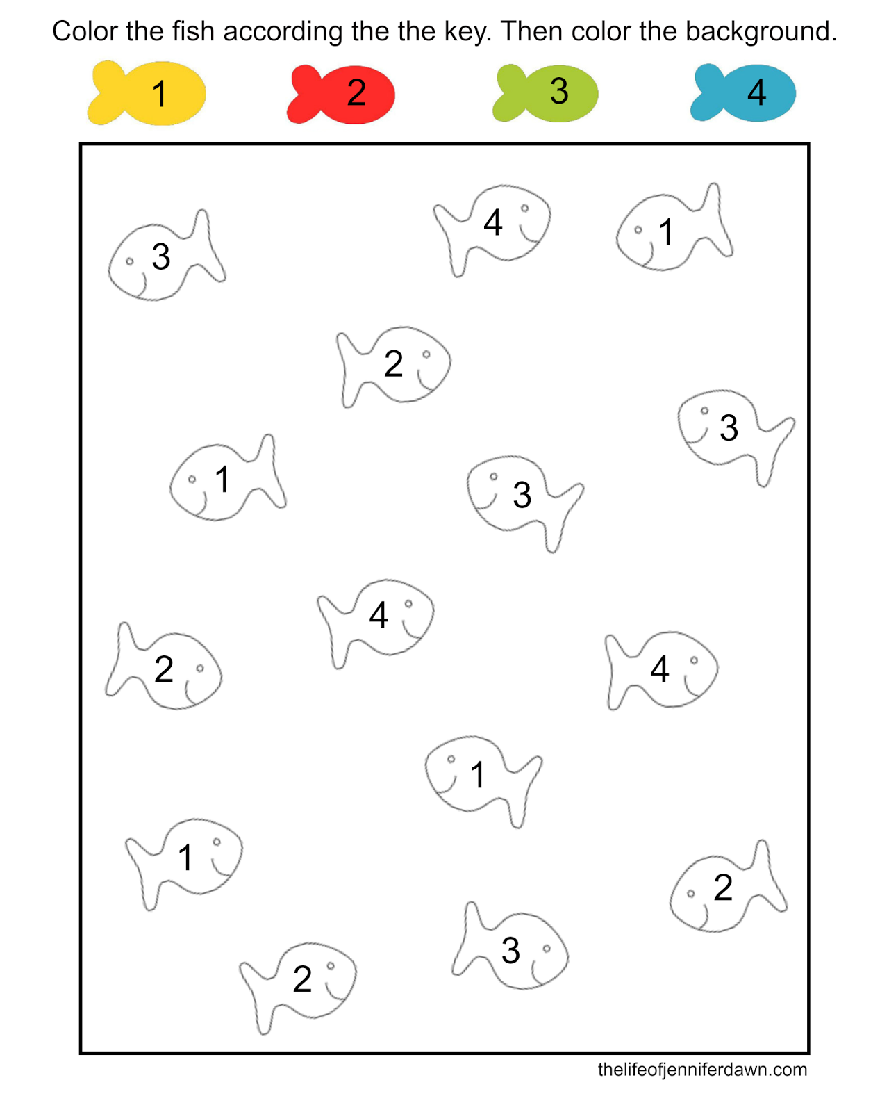 The Life of Jennifer Dawn: Printable Coloring Pages for Kids ...