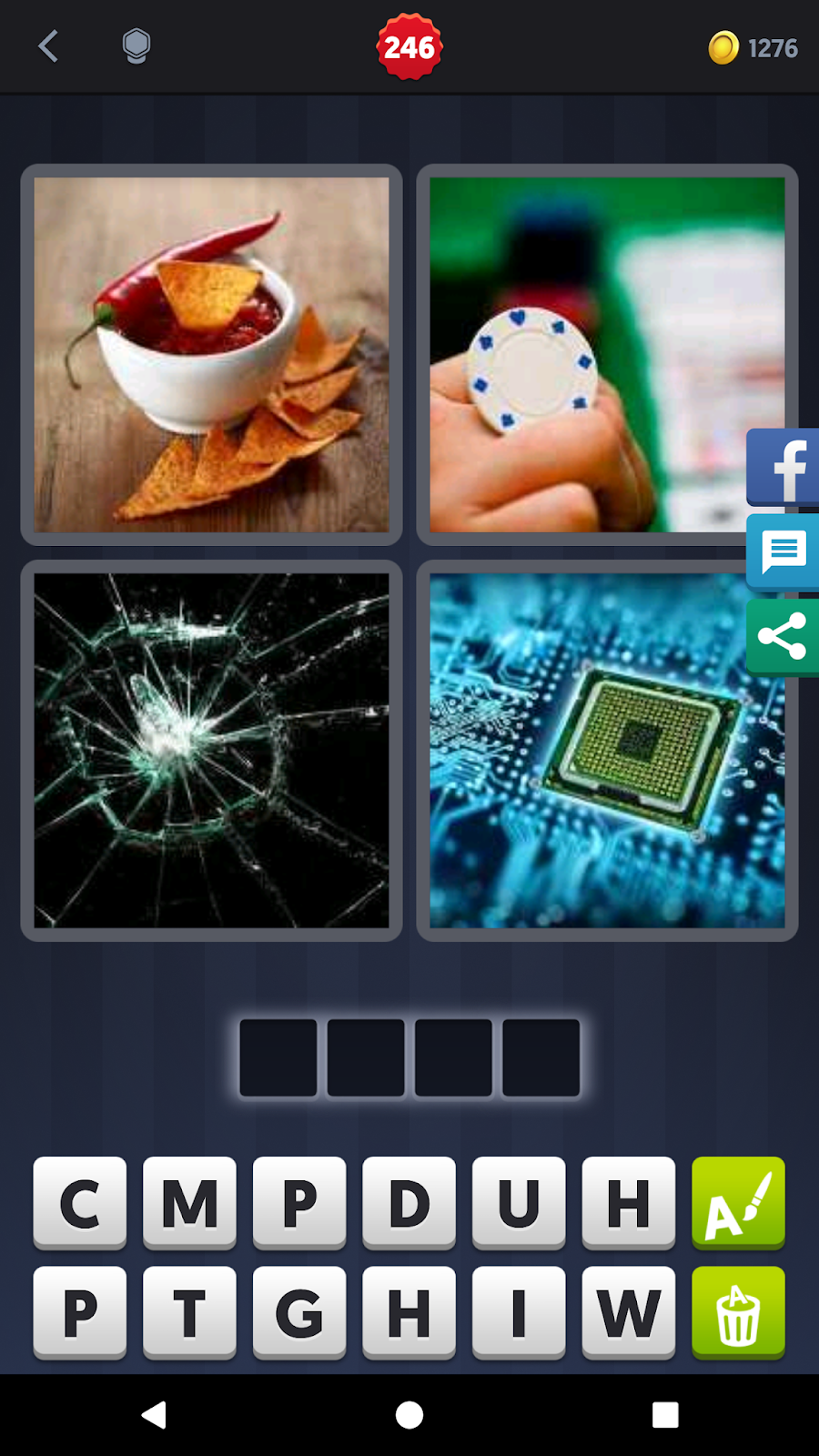 4 Pics 1 Word Answers Solutions Level 246 Chip