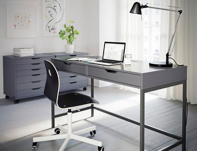 best modern grey home office desk top for sale online
