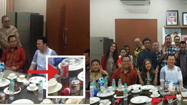 Foto Ahok Minum Bir Beredar Luas, Ini Tanggapan Pejabat dan Netizen