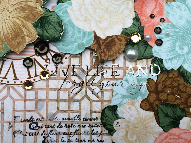 These Precious Moments layout by Solange Marques featuring BoBunny Felicity collection and 3D adhesives