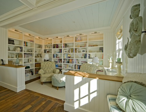 Swell Home Library Design Ideas Linking Of Home Library Space To Living Inspirational Interior Design Netriciaus