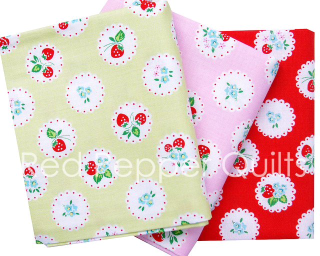 Strawberry Biscuit by Elea Lutz for Penny Rose Fabrics | Red Pepper Quilts 2016