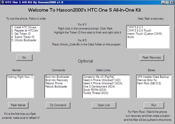 Tutorial Root HTC One S with Hasoon Toolkit