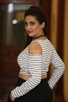 Manjusha in sleevelss crop top and black skirt at Darshakudu pre release ~  Exclusive Celebrities Galleries 007.JPG