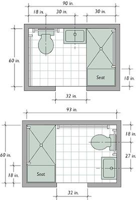World Architecture: Small Bathroom Floor Plans ...