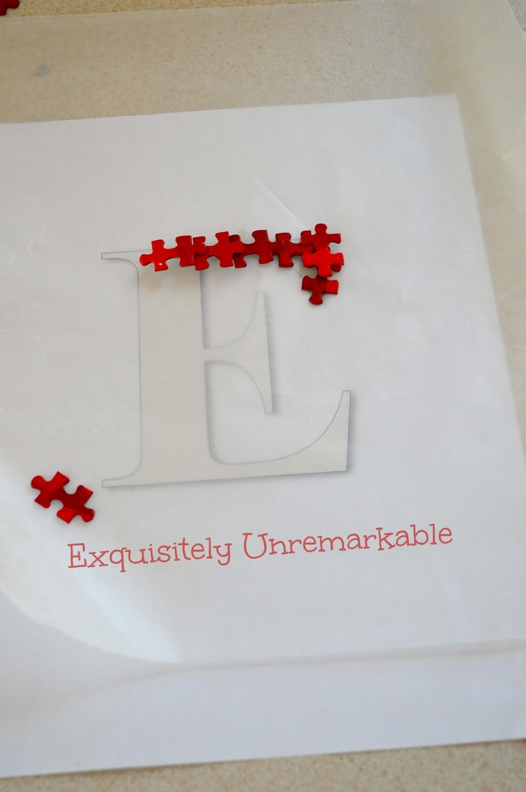 Puzzle Piece Letters DIY