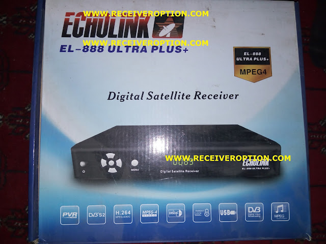 ECHOLINK EL-888 ULTRA PLUS+ MPEG4 RECEIVER BISS KEY OPTION